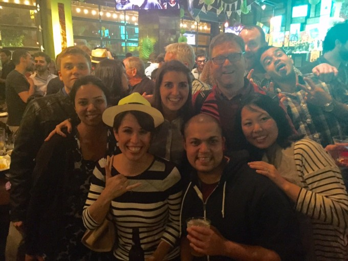 Drs. Boye and Ash getting down with the UF crew at ARVO Karaoke 2015