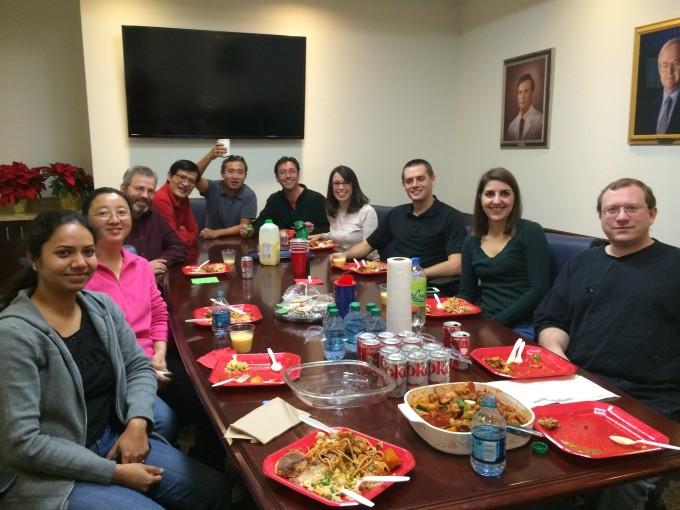 Multicultural lab= multicultural food at Christmas party. Yum!